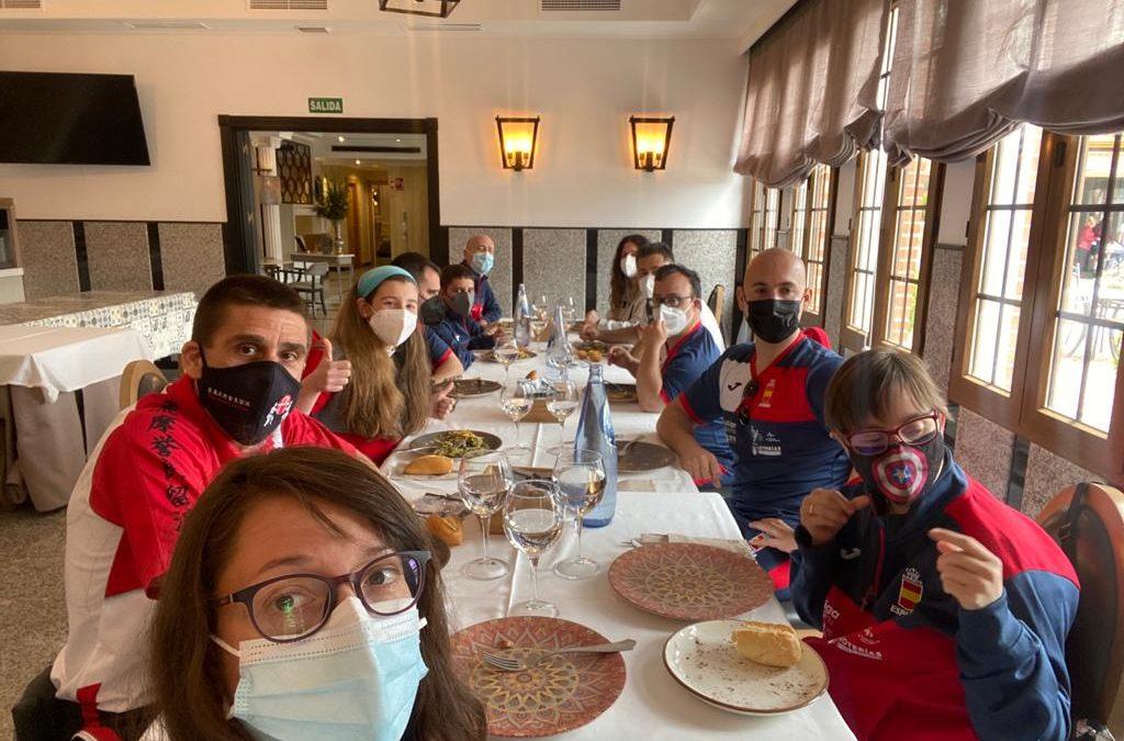 Illescas recibe  a la Selección Nacional de Parakárate antes de ir al Campeonato de Europa